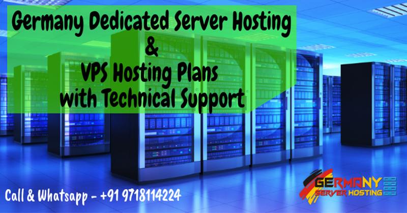 Germany Dedicated Server Hosting & VPS Hosting Plans